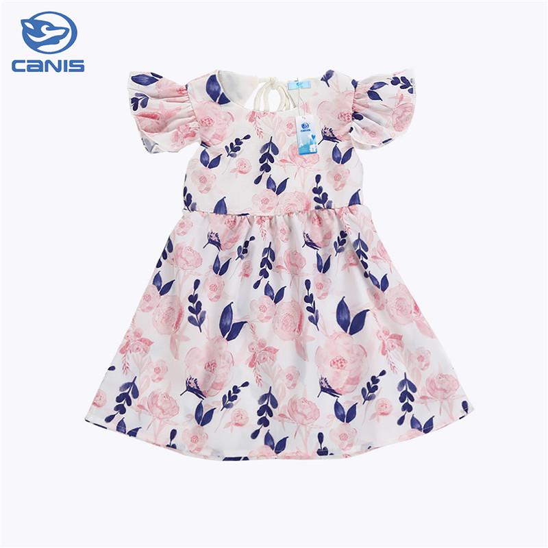c8f187f2 Sweet Newborn Kids Toddler Baby Girls Ruffle Sleeve Party Floral ...