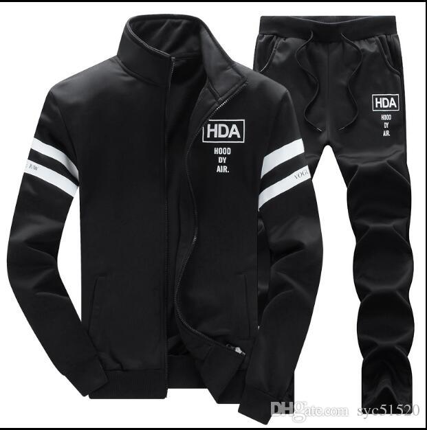 sport suit spring autumn period and the male hooded fleece suit outdoor sports wear suit two-piece breathable running clothing