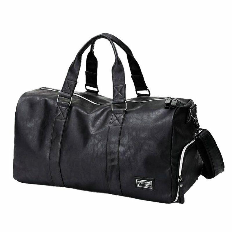 2a1e2d05d6 Acheter Sac De Sport Pour Homme Avec Compartiment Pour Chaussures Sac De  Voyage En Cuir Pour Femme Noir De $56.12 Du Fwuyun | DHgate.Com