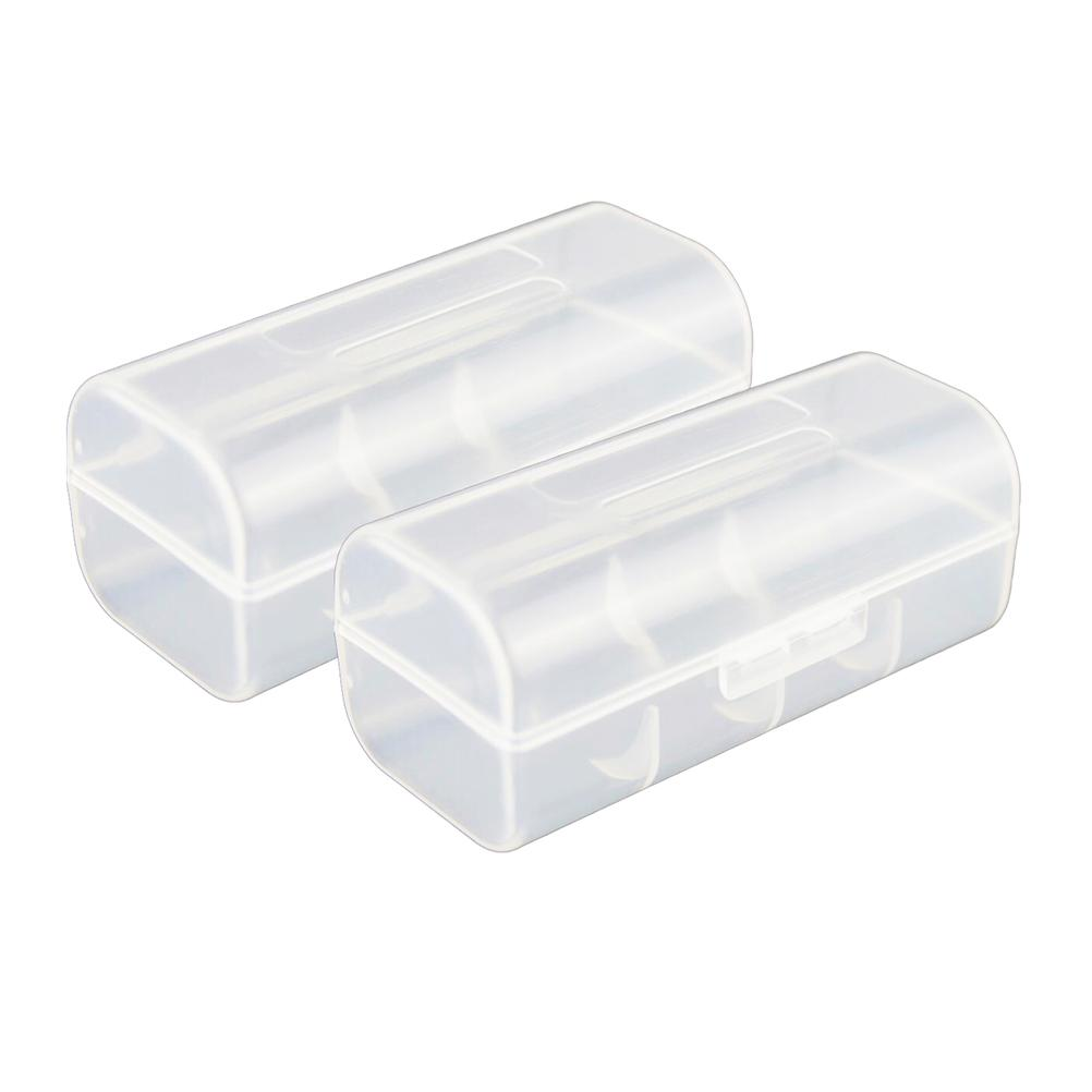 2pcs 26650 Battery Organizer Batteries Holder Hard Plastic Storage Battery Box Case