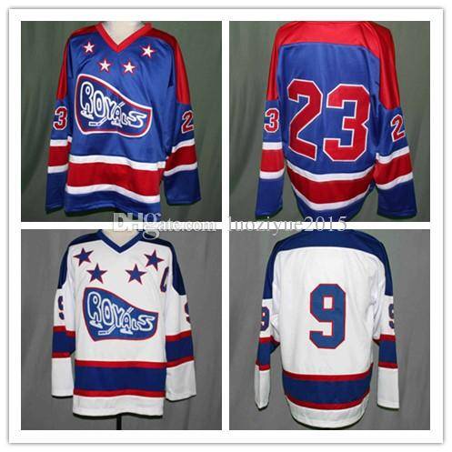 CORNWALL ROYALS JUNIOR HOCKEY JERSEY Embroidery Stitched Custom Any Number  And Name Jerseys Waves Gordon Bombay Hockey Jersey Online with  66.27 Piece  on ... 6cd00ad91e5