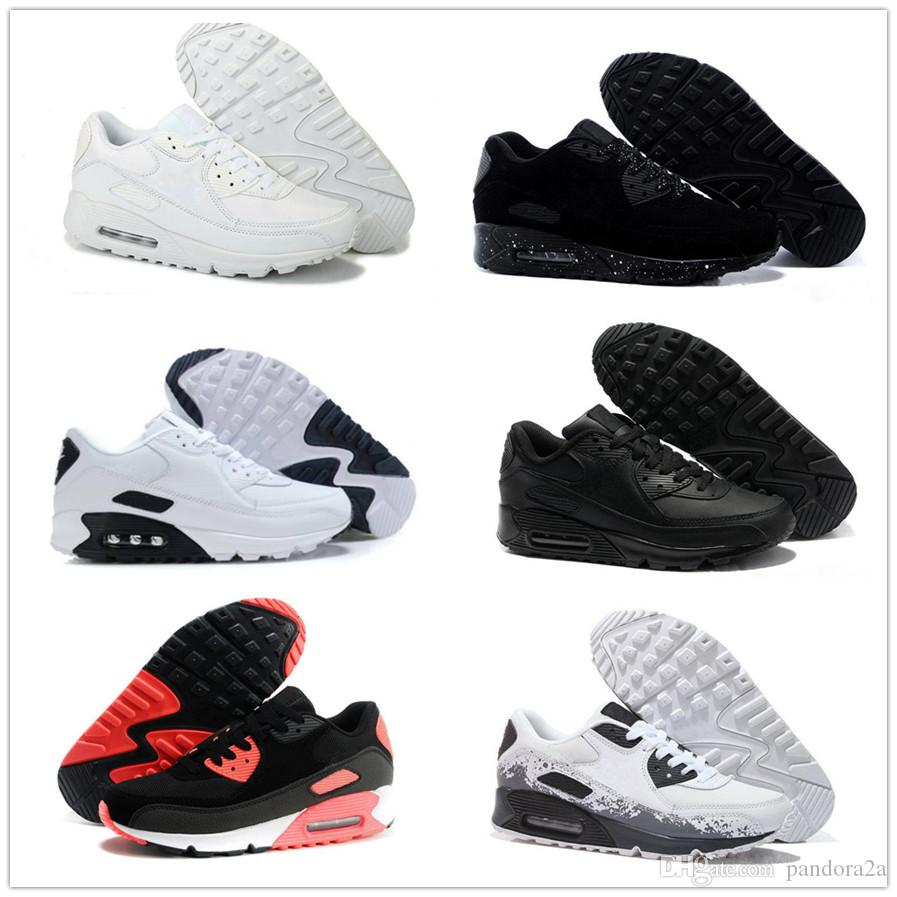 hot sale online 38586 fb45e Großhandel Nike Air Max Airmax 90 2018 Männer Turnschuhe Schuhe Classic 90  Männer Und Frauen Laufschuhe Sport Trainer Kissen 90 Oberfläche  Atmungsaktive ...