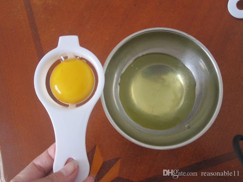 Lidar Com Ferramenta de Ovo Divisor de Ovo Separador para Pequeno Almoço Mini Gadgets Filtro De Plástico Peneira Ovo de Cozinhar Titular Utensílio de Alimentos