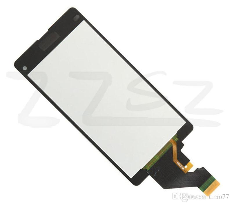 Factory price High Quality best for Sony Z1 Mini Z5 Mini LCD Display & Touch Screen Digitizer Assembly Black White DHL