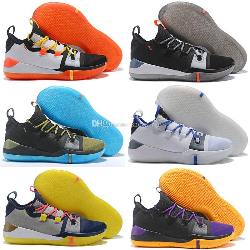 58dca93be441 2019 Kobe AD Mamba Day A.D. EP Sail Multi Color Mens Basketball Shoes Size  7 12 Kobe Bryant Sports Sneakers From Shoes inc