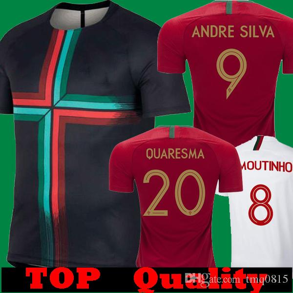 Compre Tailândia 2018 2019 RONALDO Quaresma Andre Sliva Casa Red Camisas De  Futebol 18 19 Fora Branco J.MOUTINHO BERNARDO PEPE Trainning Camisas Preto  De ... 18889fe02b772