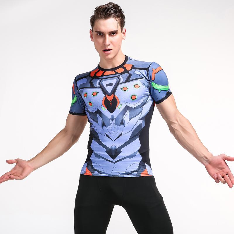 Anime 3D Print T Shirt Men Summer Tops Cartoon Tee Fitness Compression Shirt Man Tshirt Undershirt Men's T-Shirt Brand Clothing