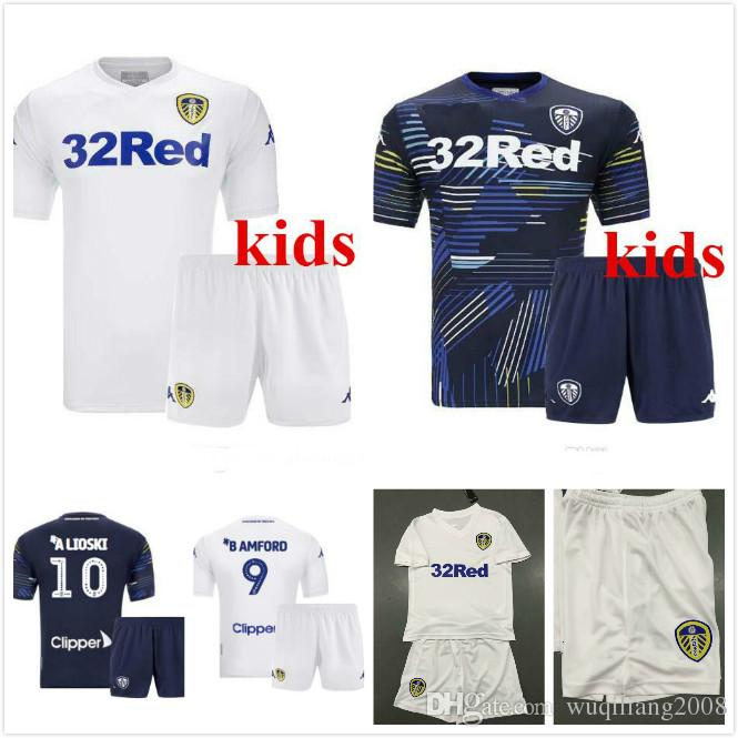 7bc8134f9 2019 18 19 Leeds United Kids Kits Jerseys 2018 2019 Leeds Home Away Child  Shirts ALIOSKI JANSSON BAMFORD COOPER SAIZ ROOFE Boys Football Shirt From  ...