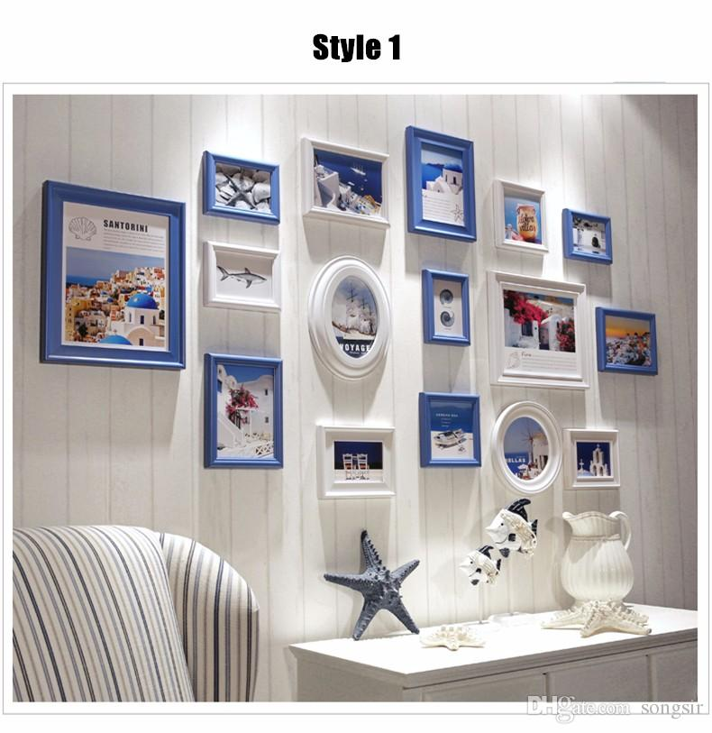 2018 White Wooden Picture Frame,Collage Photo Frame Wall,Photo ...