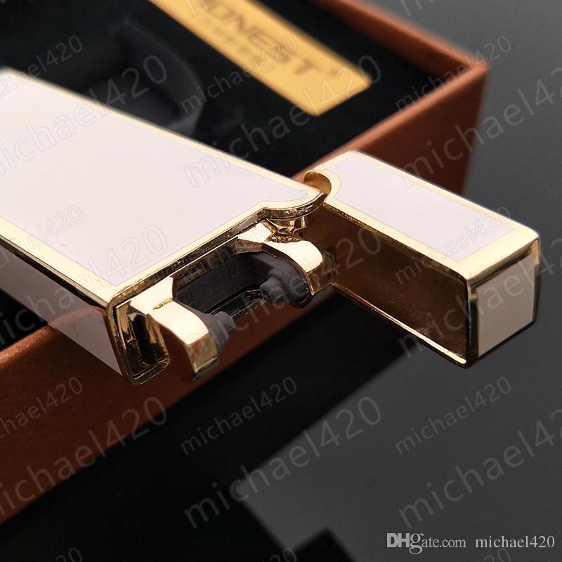 독특한 디자인의 정교한 포장 정직한 USB 전자 아크 흔들어 점화 충전식 시가 라이터는 6 가지 색상을 가지고