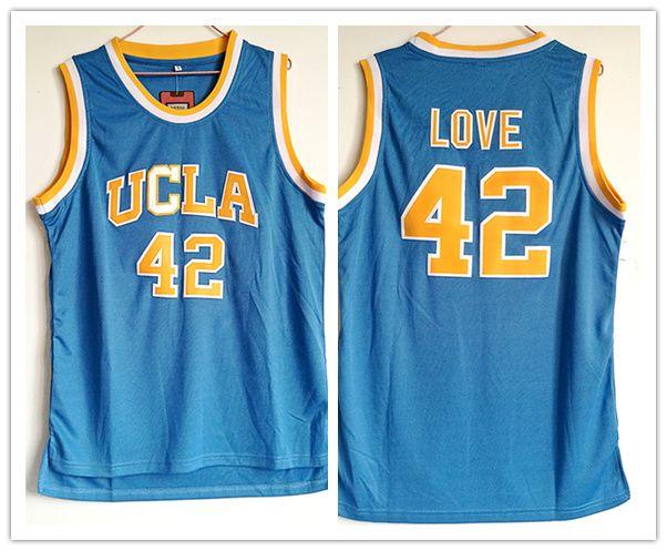 best website 8705e 788bd 2018 UCLA Bruins #42 Kevin Love basketball jerseys Stitched embroidery  jerseys for man size S-3XL