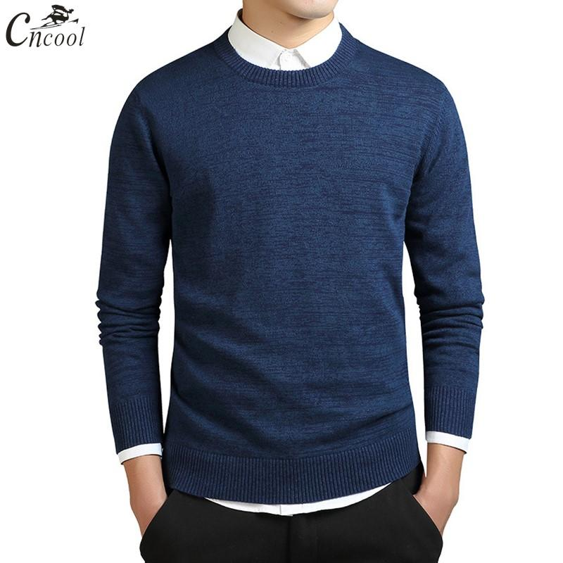 bc9c75055 2019 Cncool Sweater Men Pullovers 2018 Autumn Winter Business Casual ...
