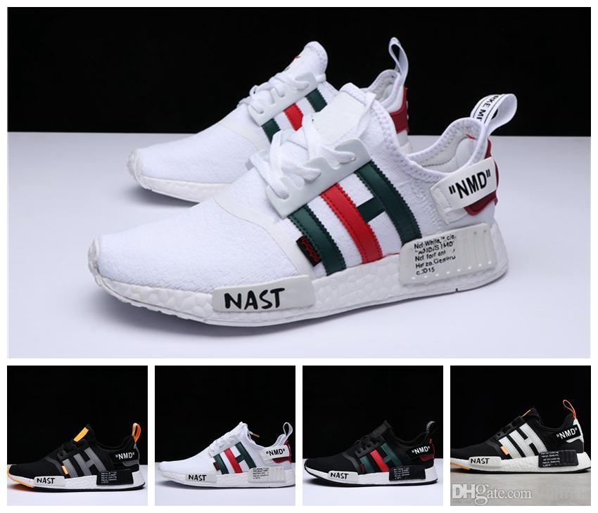 reputable site 4426f 8b2d0 Compre Adidas Nmd Off White 2019 Más Nuevo NMD Runner R1 Primeknit Sneakers  Mejor Calidad De Los Nuevos Hombres Y Mujeres Zapatillas De Deporte Triple  ...