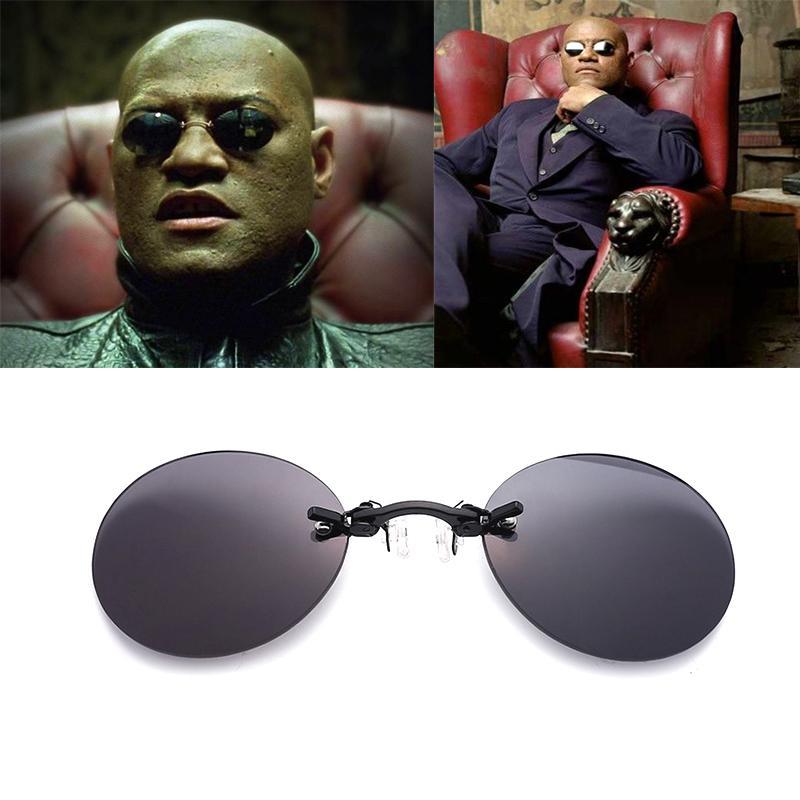 Pince Oculos De Marque Design Sol Clip Sans Vintage Lunettes Soleil Monture Hommes Nez Mode T1Jc3lFK