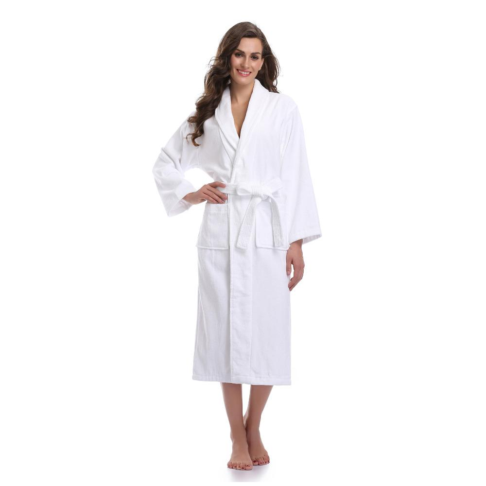 7a696a6086 fulkoala Women s 100% Turkish Terry Cotton Bathrobe Long Sleeves Lounge  Bathobe From Finebeautyone