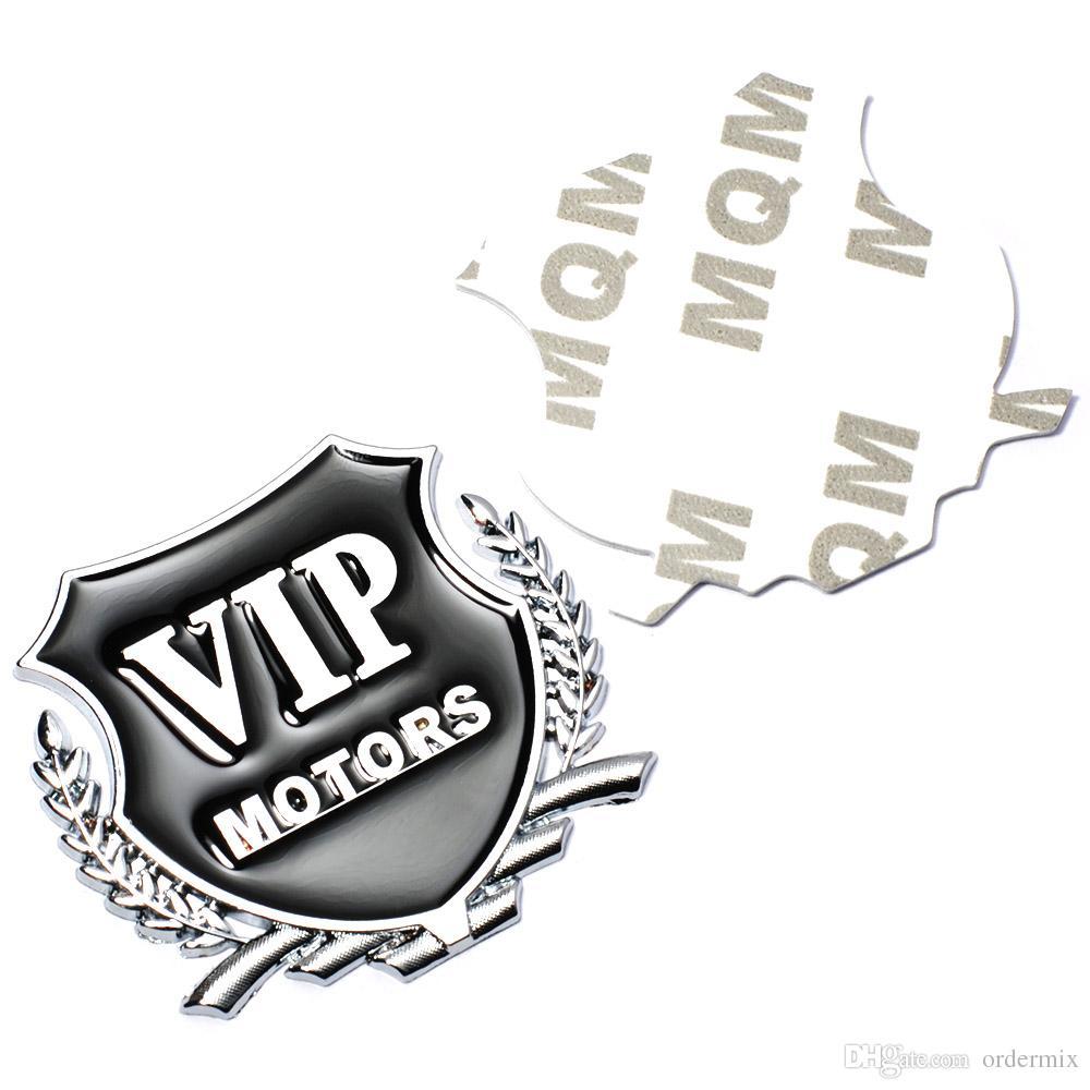 3D Logo VIP MOTORS Metal Car Chrome Emblem Badge Decal Door Window Body Auto Decor DIY Sticker Car Decoration Styling