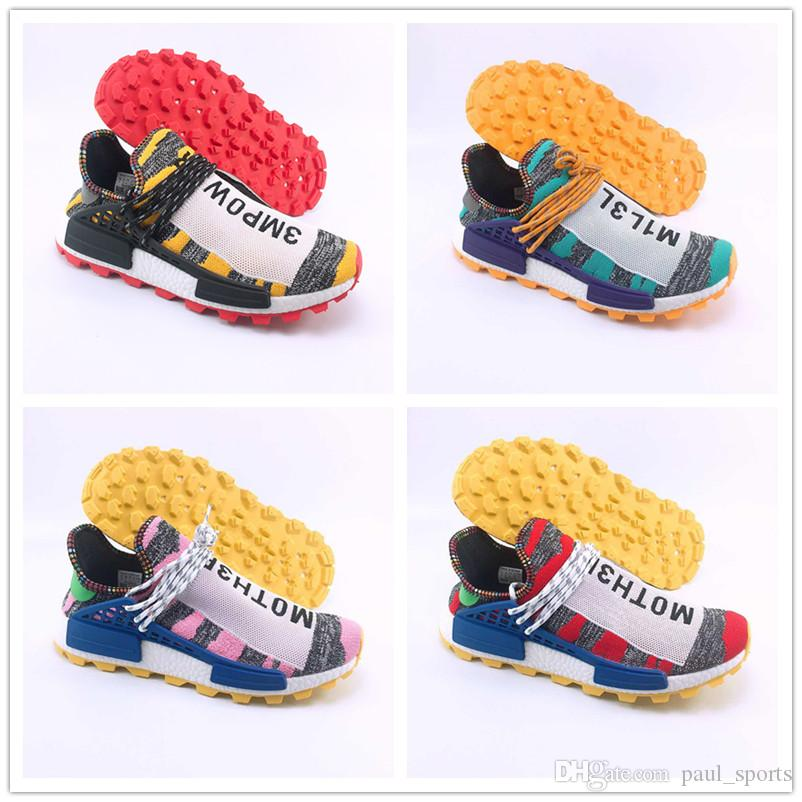 2e262609c39af 2018 Original BBC X Human Race Pharrell Williams Trail Solar Pack Frank  Designer Shoes Running For Top Quality Men Women Sneakers Size 36 47 Mens  Trail ...