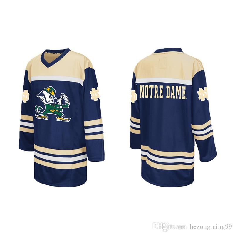 4081747a7 2019 Notre Dame Fighting Irish College Ice Hockey Jersey Men S Embroidery  Stitched Customize Any Number And Name College Jerseys From Hezongming99