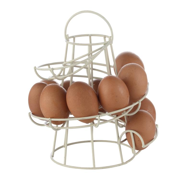 1 Piece White/Black Iron Spiral Egg Holder Egg Storage Container High Quality