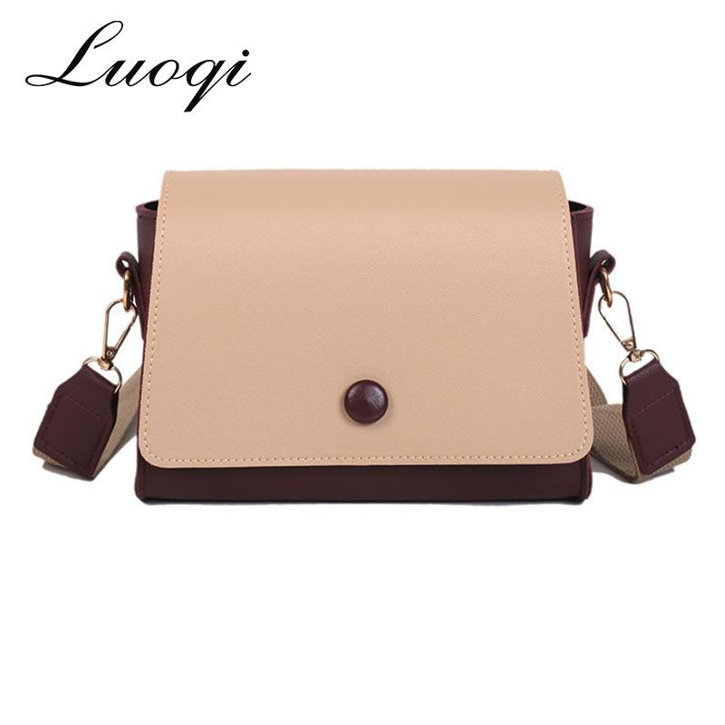 Panelled Women Bag Strap Messenger Bags Women s Handbag Shoulder ... b4e07931f6791