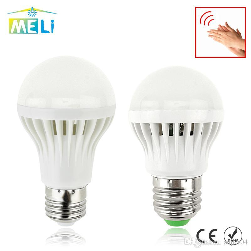 Sound light Control Led Lamp 3W 5W 7W Led Bulbs 220V E27 Sound Light Motion  Sensor Light Control Home Lighting Gate Stairs