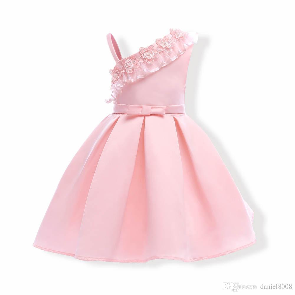 2018 Brand New Girl Dresses bambini party dress ragazze abiti da damigella d'onore