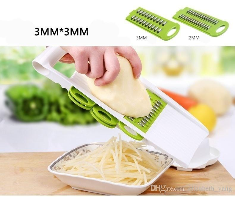 shredder Kitchen multifunction Grater set 5 in Slicers into strips device Grater Potato Cutter with DIY baking chips tray