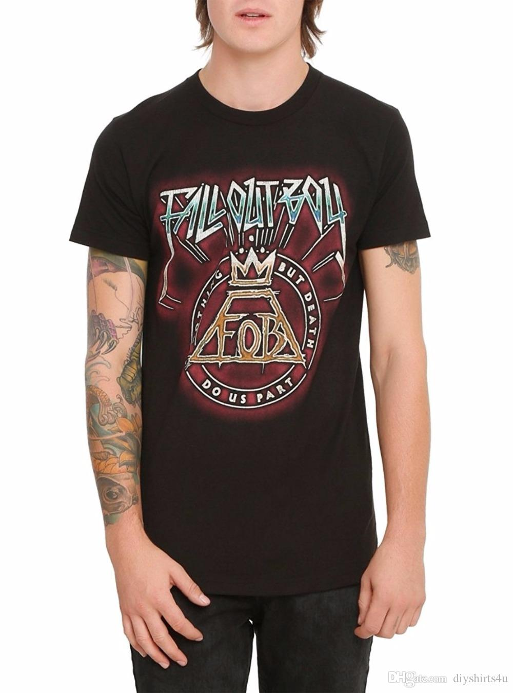 06b9ebbe1c3 Summer The New Fashion For Sleeve O Neck Men Short Sleeve Christmas Fall  Out Boy Death Do Us Part T Shirt Shirt Buy Shirt Designs Funny Clever T  Shirts From ...