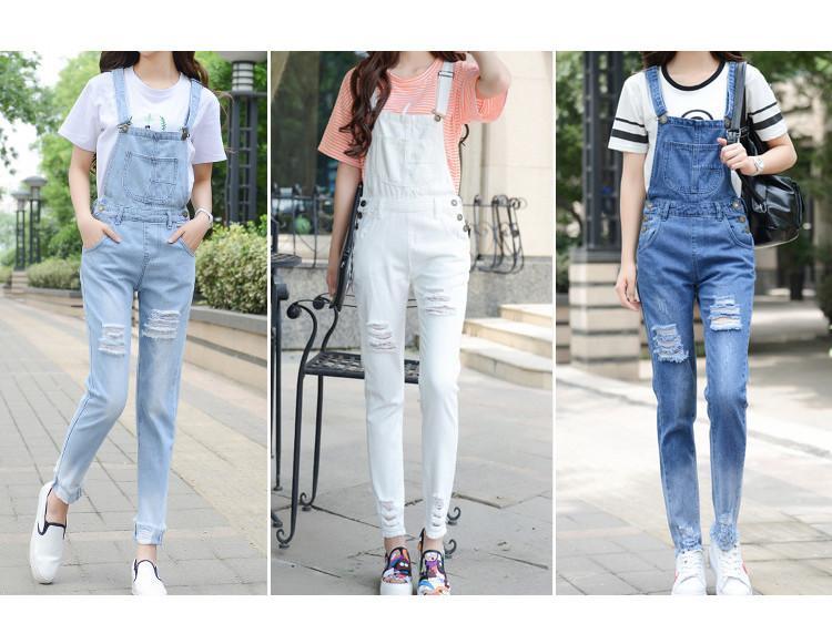 HCYO летний Комбинезон Женщин комбинезон джинсовые комбинезоны Женские комбинезон опрятный стиль боди комбинезон сплошной отверстие джинсовые комбинезоны