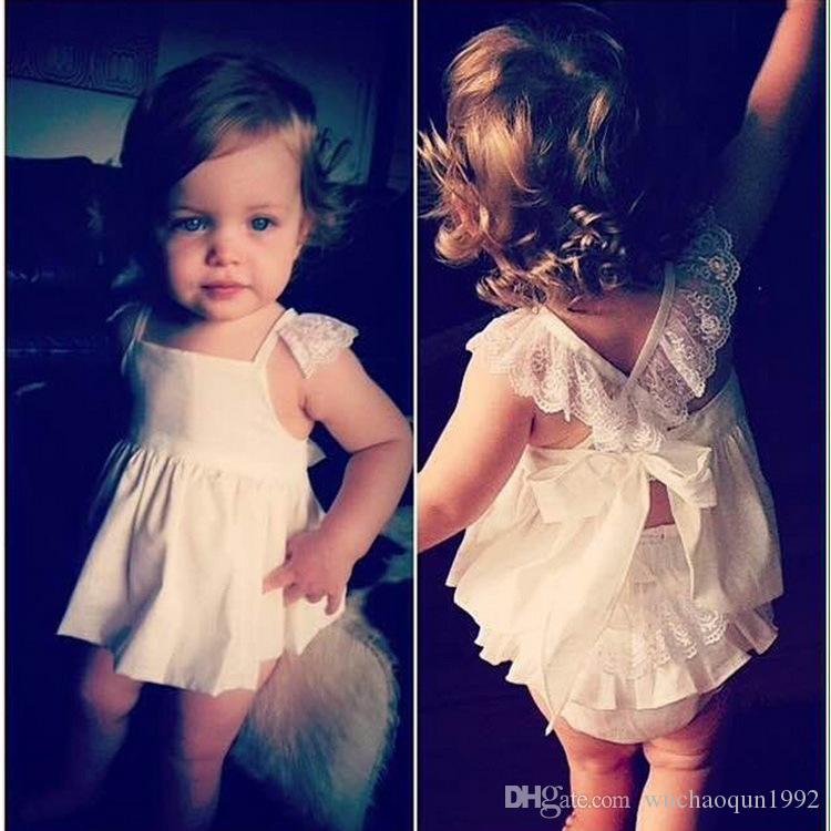 Ins Hot Sell Baby Kids Clothing Adorable Girls Clothes Princess White Blue Dress + PP Pans Sets Babies Tops Pants Outfits Lovely