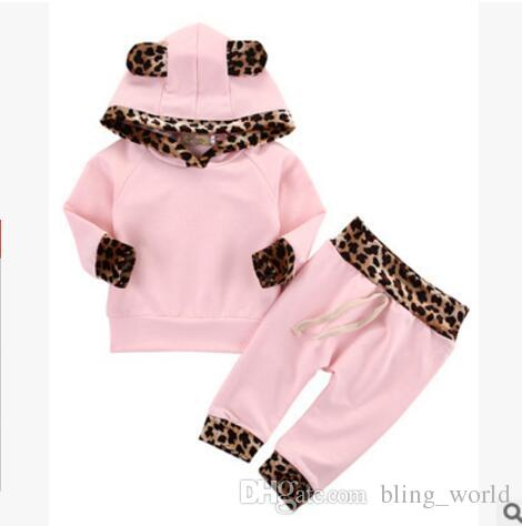 c1c548ebebb7 2019 Baby Girls Pink Clothes Set Leopard Print Hoodie Pants Set Toddler  Long Sleeve Tops Trouser Outfits Kids Designer Clothing 1 3T YL651 From  Bling_world, ...