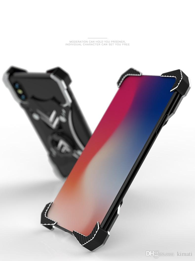 Premium Anti-Protective Ultra-Thin Metal Supportive Bumper X Sharp Drop proof Protective Mobile Phone Armor Cover For Iphone X