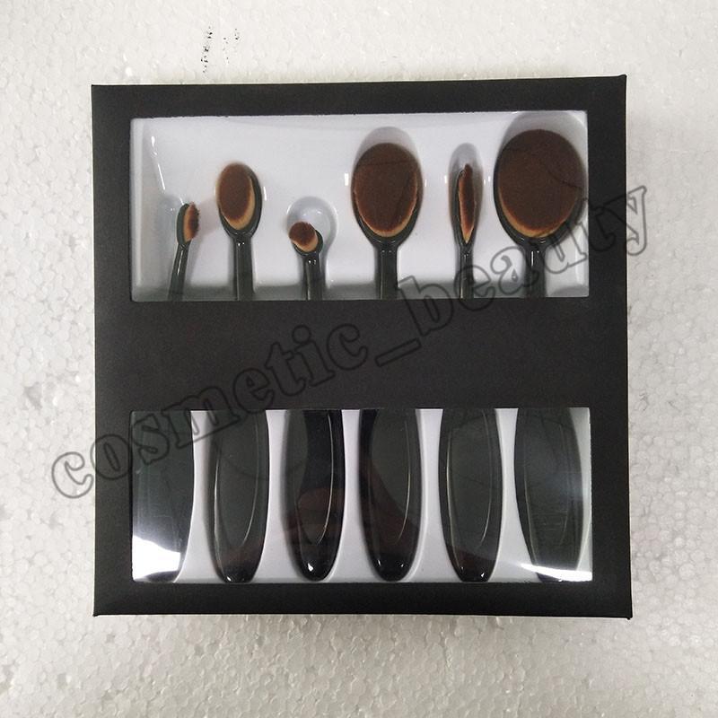 Beverly Hills Escova De Dentes Pincéis de Maquiagem Oval Make up Brush Set Bela Fundação Power Blush Blend Cosmetic Tool Kit