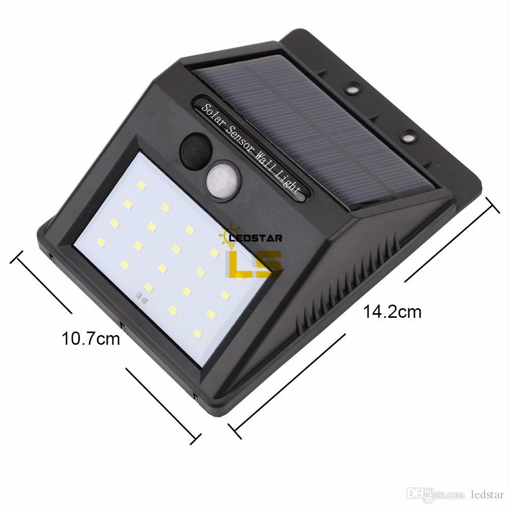 12 16 20 LED-Sonnenenergie-PIR Bewegungs-Sensor-Wand-Licht im Freien wasserdichten Straße Yard Pfad Hausgarten Sicherheitslampe Energiespar