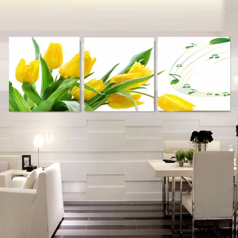 Dekoration Wohnzimmer Wand Bild Leinwand Malerei Drucken Cuadros einfarbig  Blumen Rose Orchidee abstrakt