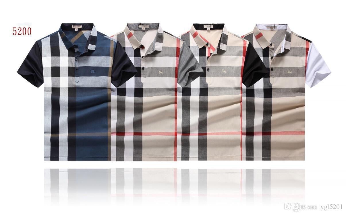 2018 Luxury Brand Design Short Sleeve Mens Polo Shirts Fashion Uk
