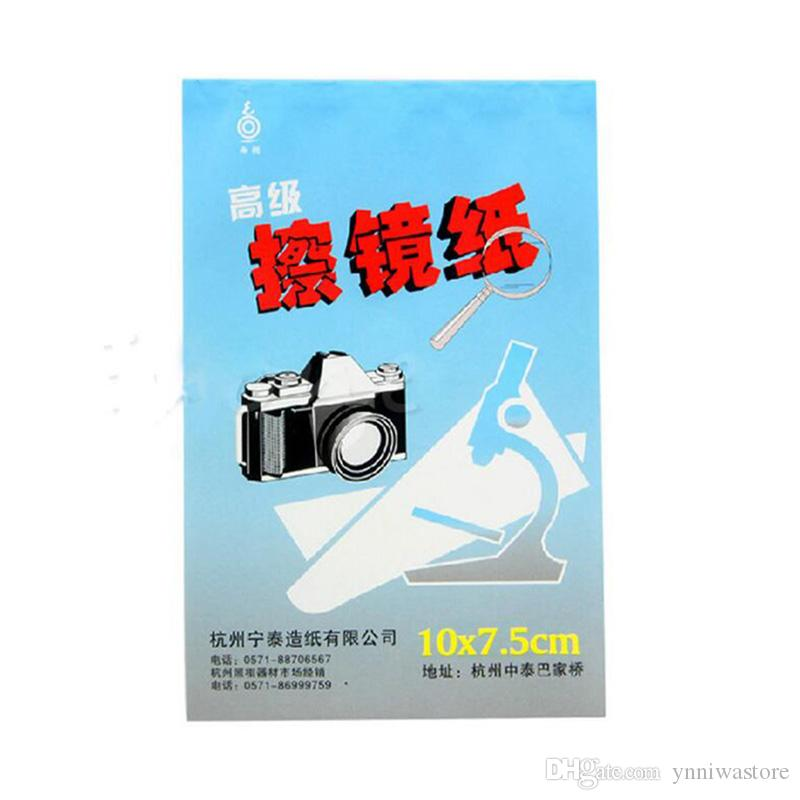 Wholesale Small 10*7.5cm 50 large size 10*15cm 50 sheets DSLR Camera Lens Tissue Cleaning Paper with