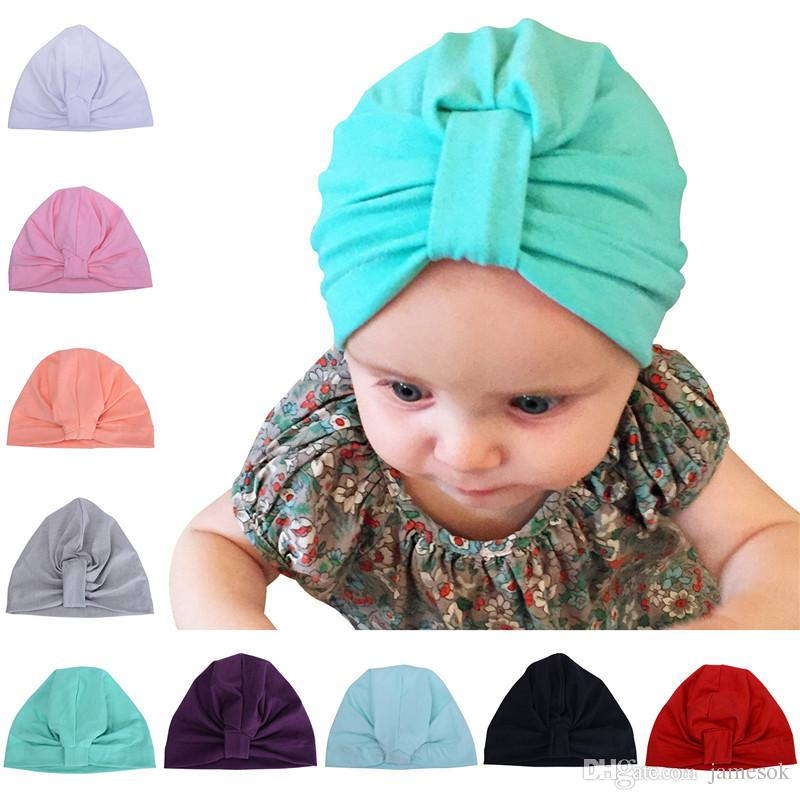 344e553c161 2019 HOT Kids Benies Wholesales Newborn Photography Props Babies Girls Boys  Hats Knotted Bohemia Winter Caps Cotton Autumn Spring Hats From Jamesok