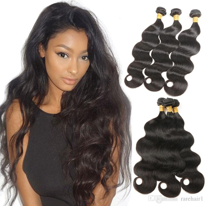 3 Bundles Peruvian Human Hair Body Wave Wet And Wavy Hair Extensions