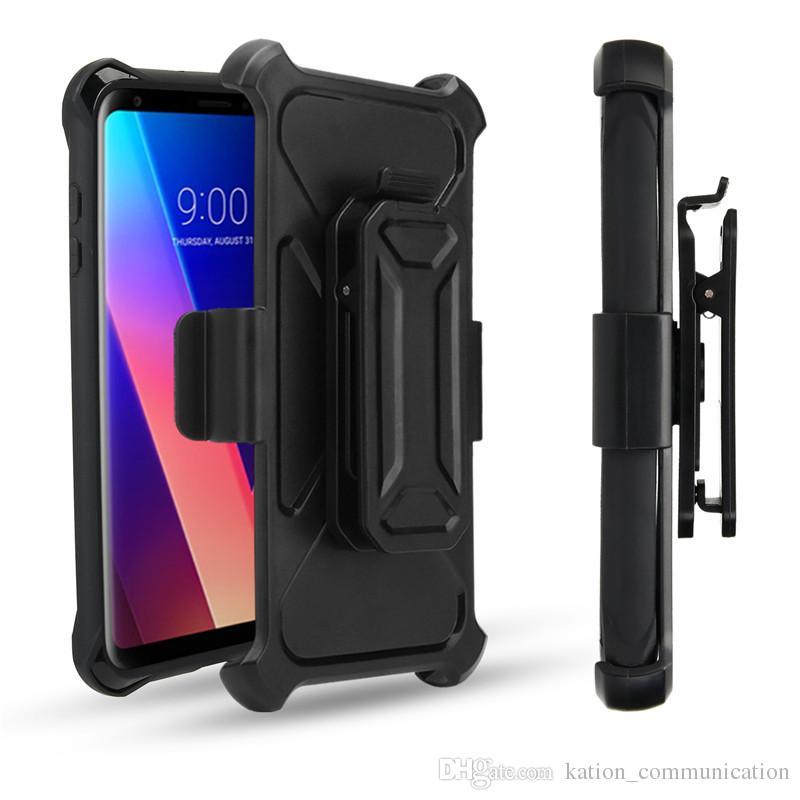 For LG Aristo LV5 K20Plus X Power2 E4Plus Heavy Duty Holster Belt Clip Case For ZTE Zmarx Pro2 Z982 Shockproof Armor Hybrid Case