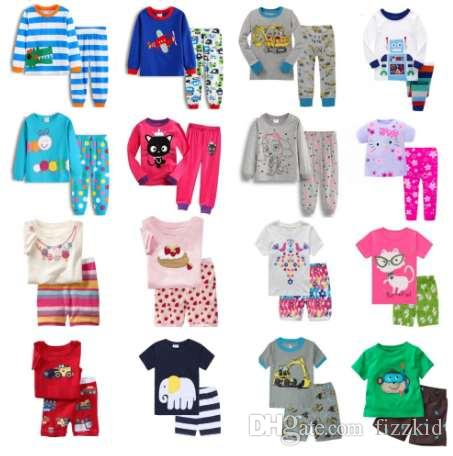 239751d7ca Compre Hooyi Baby Boys Pijamas Traje Ropa De Dormir Ropa De Dormir Trajes  De Dormir Camisetas Para Niños Pantalones Pijama Para Niños 100% Algodón  Tops ...