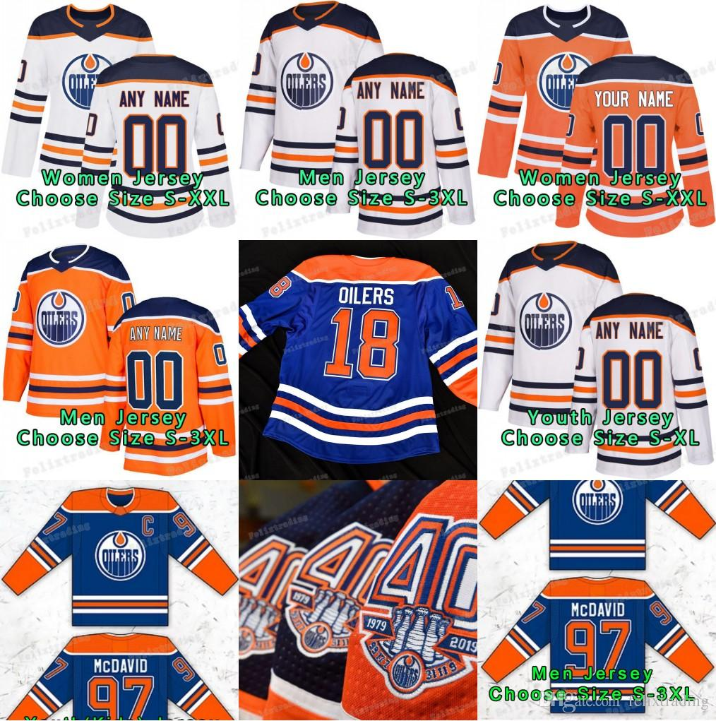 low priced 12692 e1647 40th anniversary 2018-19 Edmonton Oilers Connor McDavid Milan Lucic Zack  Kassian Cam Talbot Leon Draisaitl Nurse Wayne Gretzky Jersey