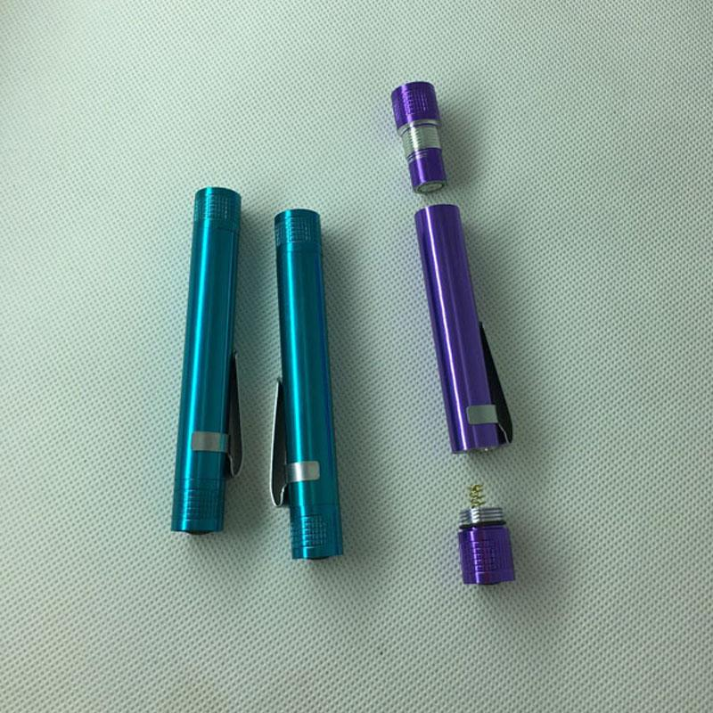 Portable pen torch outdoor or home illumination aluminum alloy mini LED flashlight promotion gift battery not included