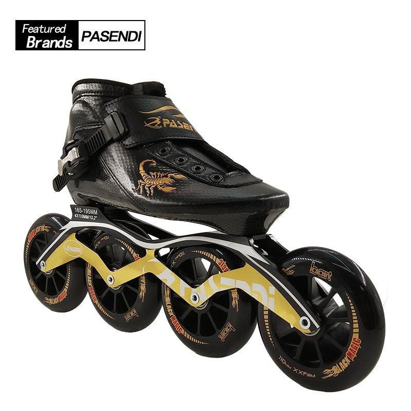 a9158eda522912 2019 Professional New Speed Skate Shoes Adults/Kids Carbon Fiber Roller  Skating Women/Men 4 Wheels Inline Skates Boots From Ahaheng, $267.74 |  DHgate.Com