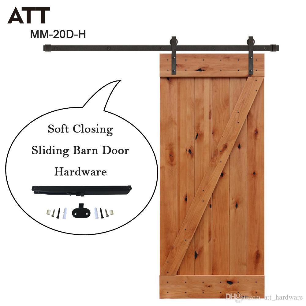 2018 6ft Black Iron Sliding Barn Wood Door Track Hardware Interior