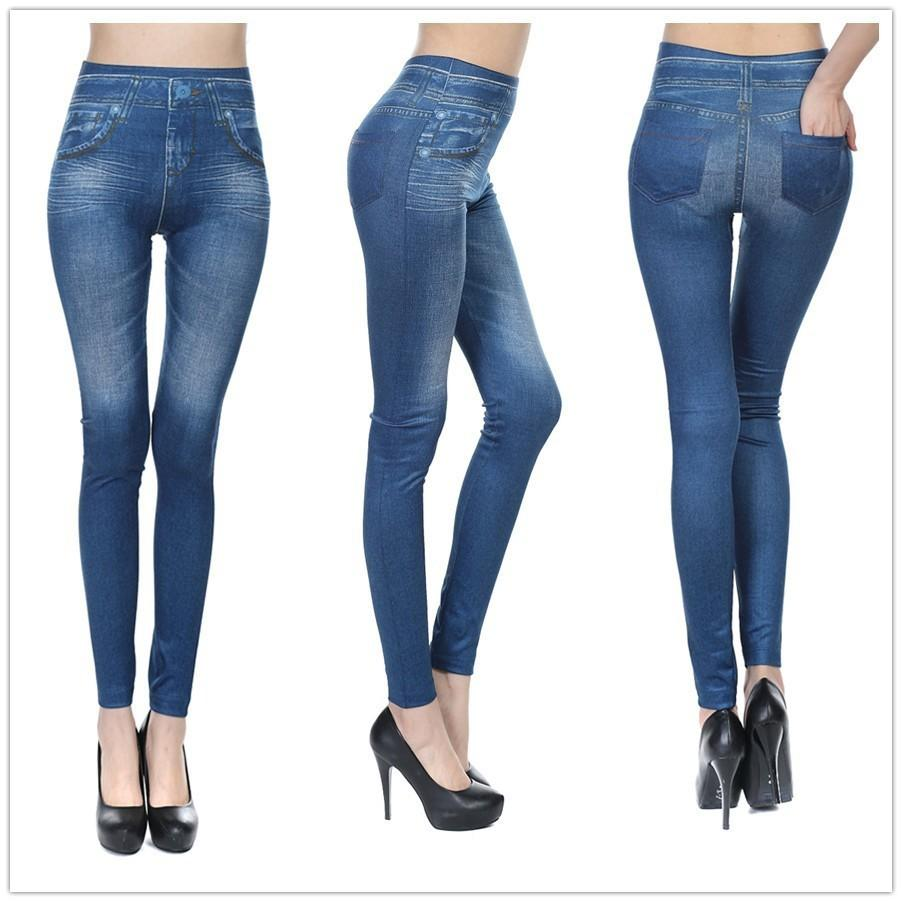 2018 High Quality Skinny Pants Womens Legging Blue Black Grey Jeans Imitation Jean Female Warm Jeggings With 2 Real Pockets Pencil From Beasy114