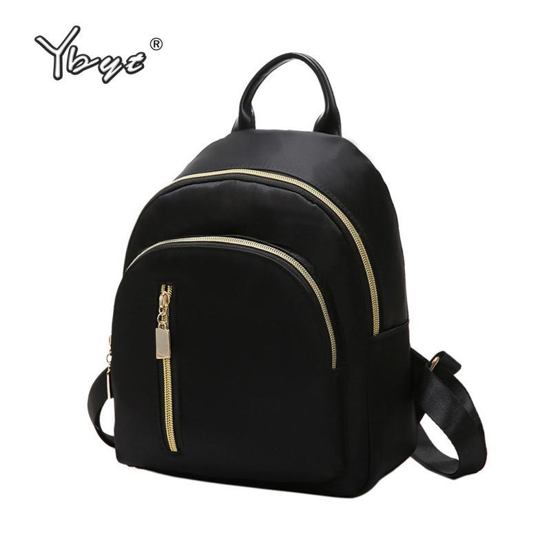 ae9022c5e92b YBYT Brand New Nylon Casual Women Rucksacks Preppy Style Black Small Bags  Girls Student School Bookbags Ladies Travel Backpacks Backpacks For Women  ...