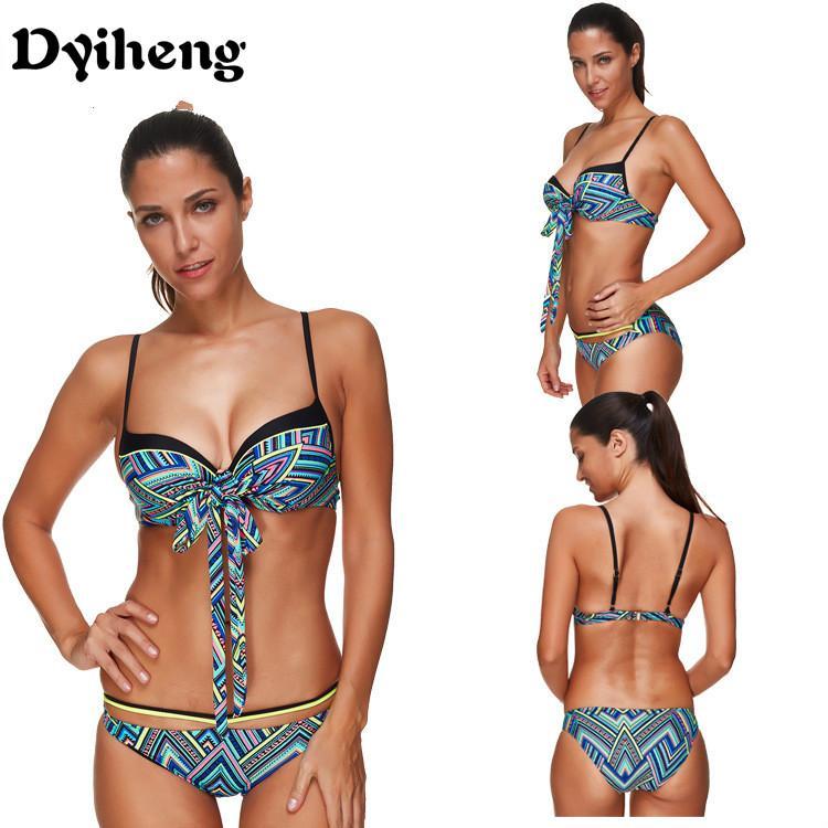 7332ae7fb61c5 Dyiheng LS1345 Tie Die Tank Top Designer Bikini Large Size Swimwear Double  Push Up Indoor Swimsuit May Beach Bikini Seafolly Balconette Plus Size  Bikinis ...
