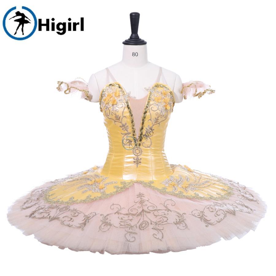 a6c25d206301 2019 Adult Professional Ballet Tutu Costume BT9233 Gold Yelllow ...