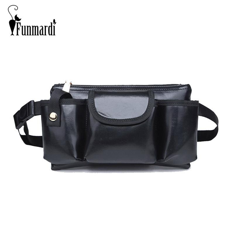 FUNMARDI New Style Women Leather Waist Bag For Men Fanny Pack Multi Pockets  Design Belt Bag Phone Purse Small Bum WLHB1762 Kavu Backpacks Red Bags From  ... 9dad74eccddbb